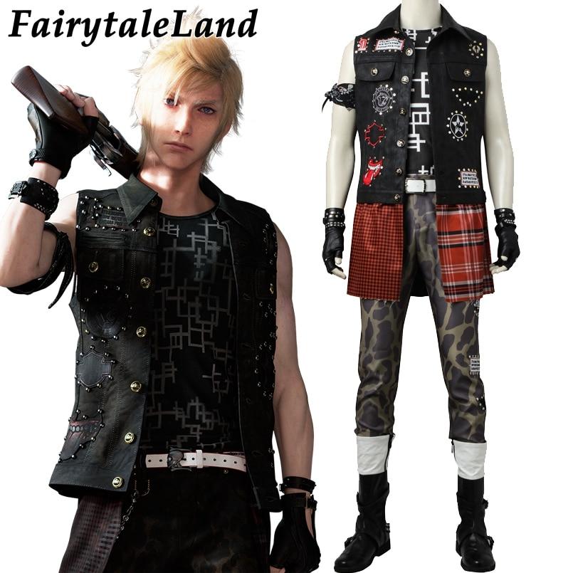 Final Fantasy Prompto Argentum Cosplay Kostuum Volwassen Cosplay Carnaval Halloween Kostuums Hot Game Prompto Kostuum Custom Made