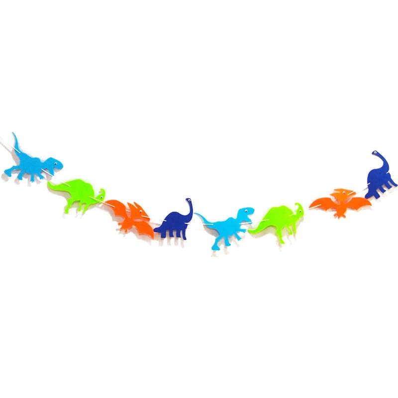 Cartoon Dinosaurier Flagge Ballon Girlande Banner Geburtstagsfeier Hanging Decor