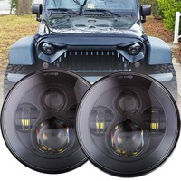 For Jeep Wrangler JK TJ LJ CJ & Hummer H1 H2,Round 7inch Jeep Wrangler LED Headlight, High Low Beam LED Headlight DOT Approved