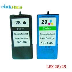 Einkshop 2 sztuk czarny i trójkolorowy do Lexmark 28 29 wkład atramentowy do Lexmark X5070 X5075 X5320 X5340 drukarka do lexmark 28 29