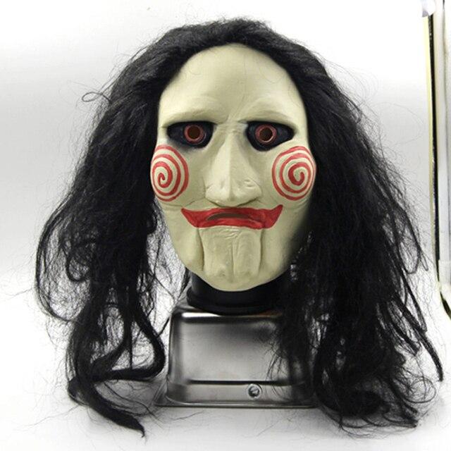 Jigsaw Creepy Scary Halloween Clown Mask Rubber Latex Jig Saw ...