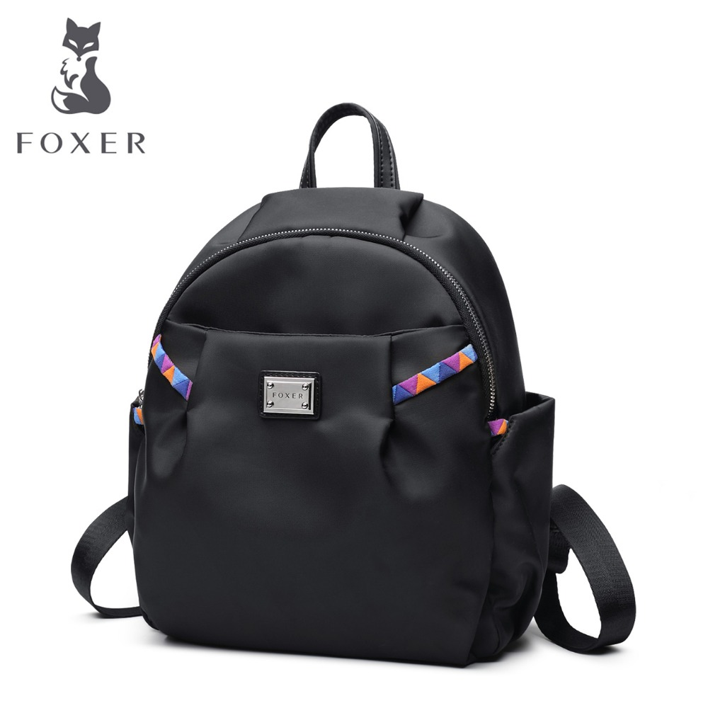 FOXER Brand Women's Oxford Backpacks Girl's school bags Female travel Backpack bag kanken backpack 2018 korean new female oxford school backpack brand laptop backpack women kanken backpack fashion lady shoulder mochila travel