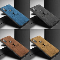 For Xiaomi mi a2 lite/redmi note 5 Pro case redmi s2 /fashion elk Pattern silicon TPU Cloth Texture Case For redmi note 6 7 Pro