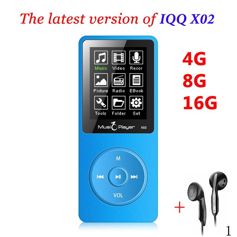 Мини mp3 16 ГБ с Встроенный динамик iqq x02 MP 3 плеер с радио HiFi Динамик MP-3 hifi-плеер Reproductor mp3 16 ГБ Walkman