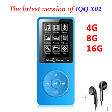 Mini MP3 16gb with Built-in Speaker IQQ x02 mp 3 Player with radio hifi speaker mp-3 hifi Player reproductor mp3 16gb walkman(China)
