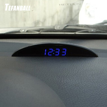 Car Electronic Clock Ornament Automotive Nightlight Mode Interior Temperature Voltmeter Decoration Watch Multifunction Accessory