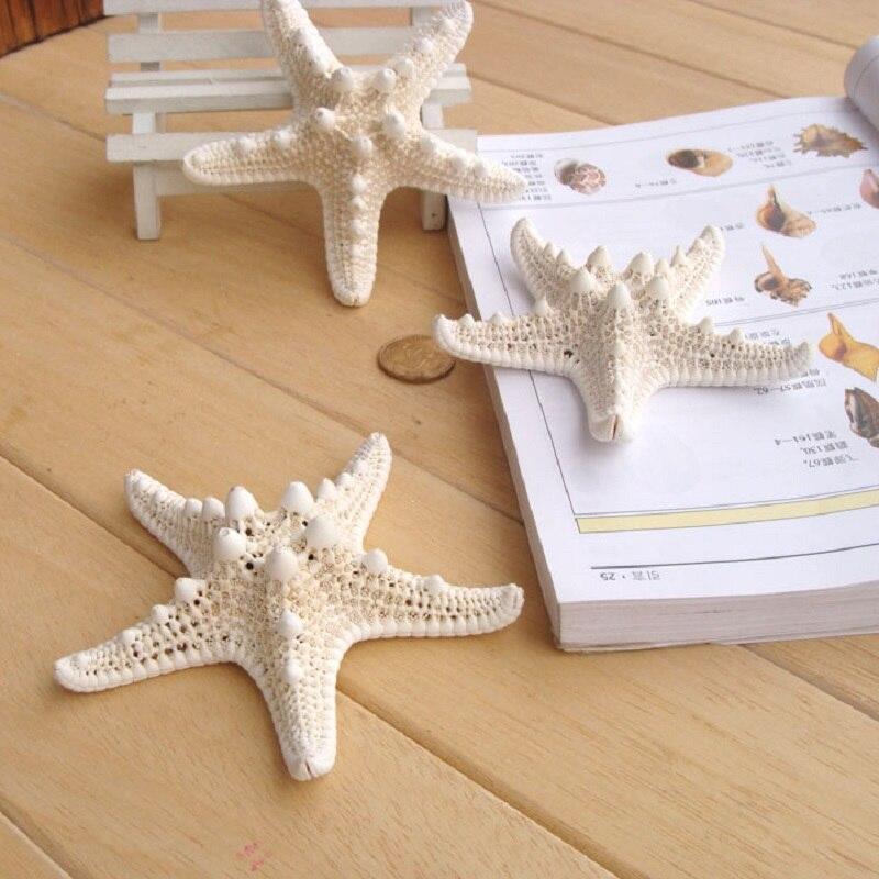 6 stücke Natürliche Fünf Winkel Weiß Seestern 10 cm-13 cm Sea Star Shell Strand Hochzeit Nautischen Display DIY handwerk Home Party Dekoration