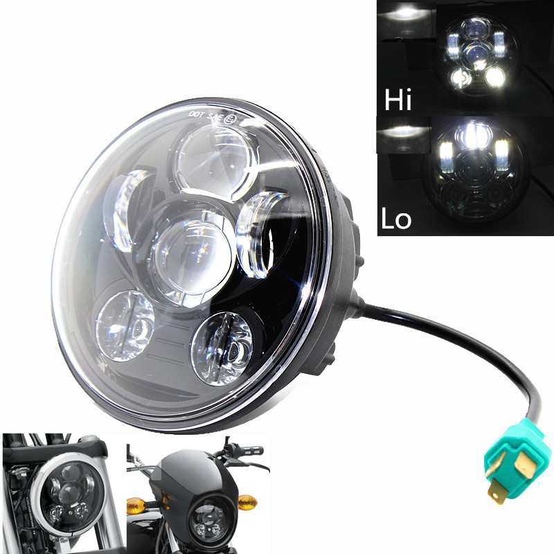 1PCS Wholesale Motorcycle Projector for motor 5 3 4 5 75 inch LED Headlight for motor