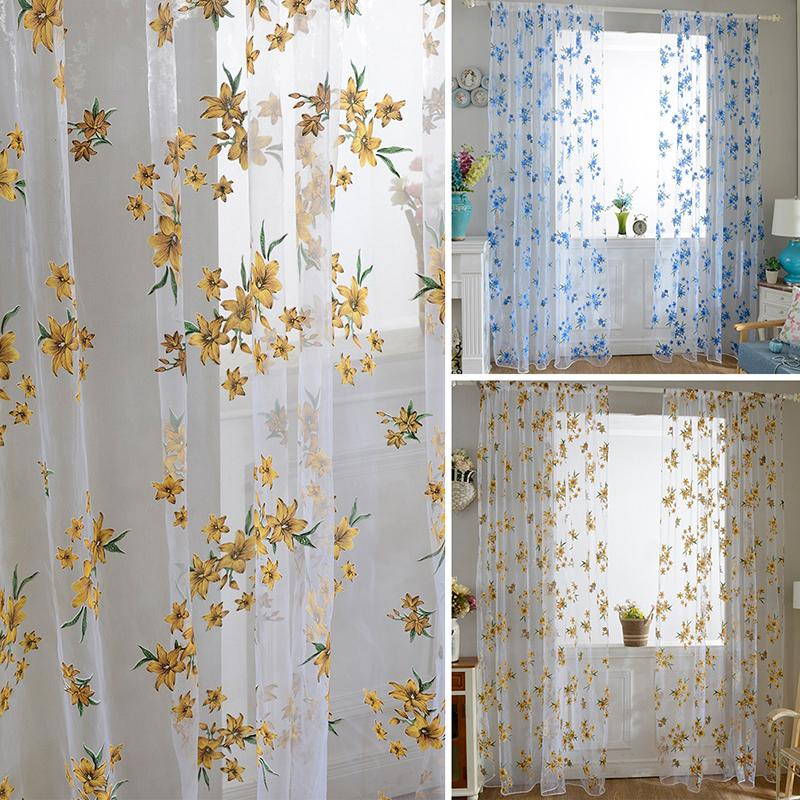 Curtain Cute Living Room Valances For Your Home: 100cm X 200cm Cute New Sheer Tap Top Curtain Window Living