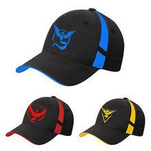 2016 Fashion New pokemon Go Team Valor pokeball hat sport caps Mystic Team Instinct women men's Pokemon baseball wholesale hats