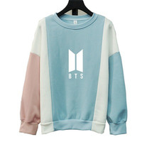 Bts Sweatshirt For Women Bangtan Letter Printed Fans Supportive Bts Album Capless Stitching Sweatshirt Kpop Bt21