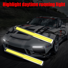 COB Car Daytime Running Light Car Warning Light Driving Fog Lamp Auto LED DRL Day Light For Ford Focus 2 Fiesta ST Puma Ka Escap цена в Москве и Питере