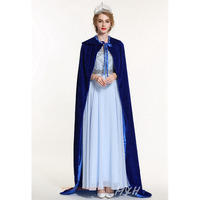 Elegant Pageant Velvet Cloak Full Length 71 Luxury Europe Style Robe Medieval Cape Shawl Cosplay Party Queen Princess Costumes