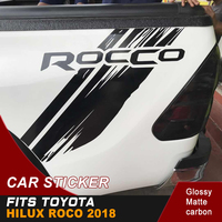 2PC free shipping hilux racing side stripe graphic Vinyl sticker for TOYOTA HILUX ROCCO 2018