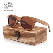 cork sunglasses women 2018 UV400 wood sunglasses men polariz
