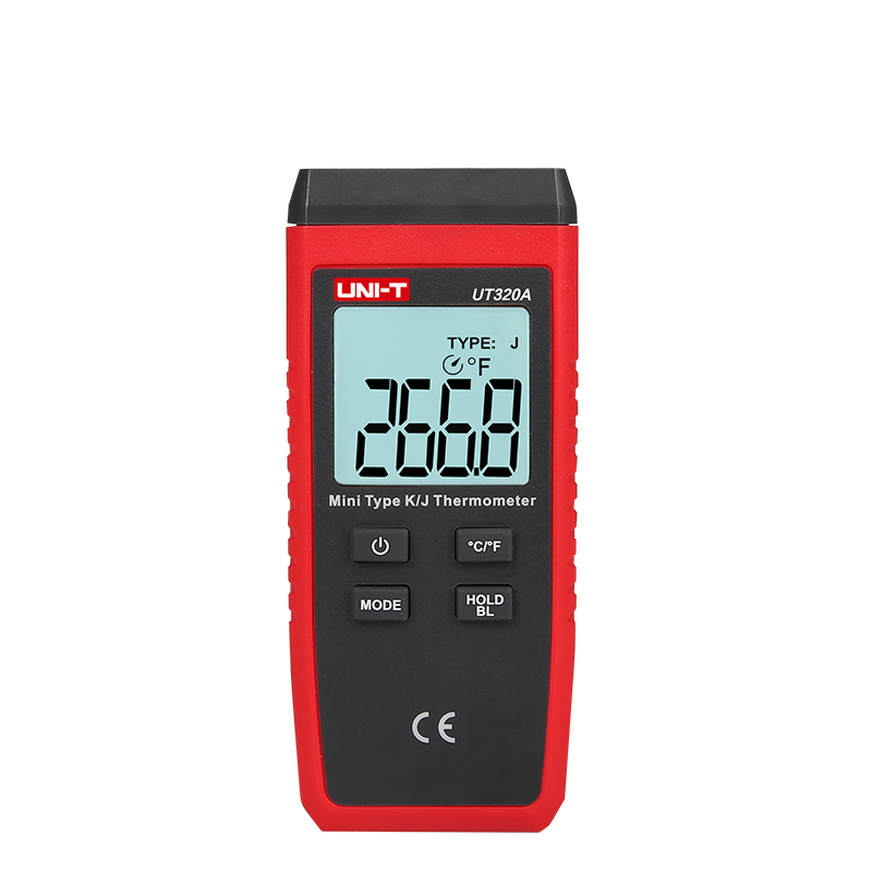 UNI-T UT320A Contact K/J Type Thermocouple Thermometer C/F Temperature Meter LCD Backlight Temperature Measurement