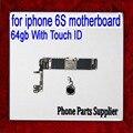 64 gb para iphone 6 s motherboard com touch id & fingerprint, placa lógica original desbloqueado para iphonbe 6 s, por frete grátis