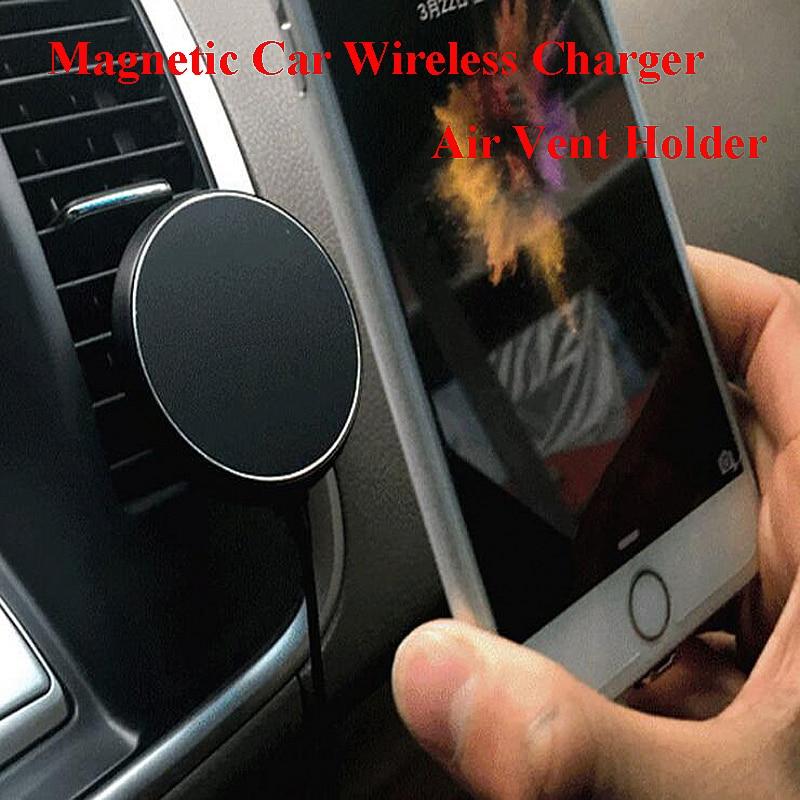 360 bil QI trådlös laddarehållare magnetisk luftventilationsdocka - Reservdelar och tillbehör för mobiltelefoner - Foto 2