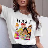 Été mode graphique t-shirt Femme drôle princesse Vogue Harajuku t-shirt coréen hauts filles Kawaii Streetwear