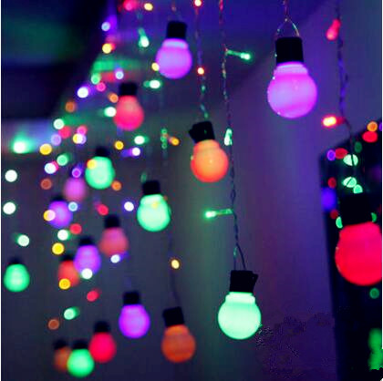 4X0.65M New Year LED Curtain String Fairy Lights Wedding Cristmas LED Christmas Garlands Decoration Natal Luces De Navidad