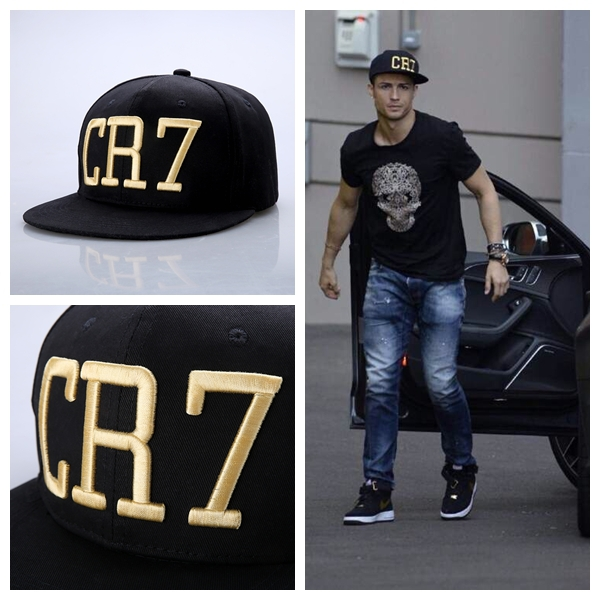 2015 Cristiano Ronaldo CR7 Gold Letter Black Baseball Caps hip hop Sports  Snapback cap hat for men and women-in Baseball Caps from Apparel  Accessories on ... 8fffb603162