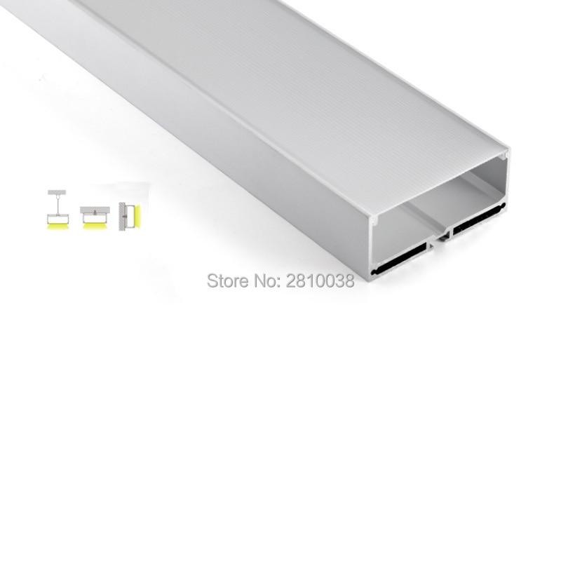 100 x conjuntos de 2 m lot superficie canal ultra grande u estilo de aluminio de