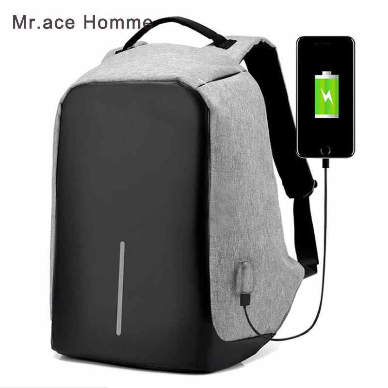Anti-theft Waterproof Laptop Backpack Men External USB Charge Notebook Security Backpack for Women Multi function Computer Bag tuguan notebook bag external usb anti theft charging waterproof laptop backpack for men and women business travel computer bag