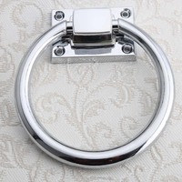 1x Dia 100mm Modern Drop Ring Circle Handles Zinc Alloy Door Chair Sofas Handles Pulls Cabinet Drawer Pull Furniture Handle