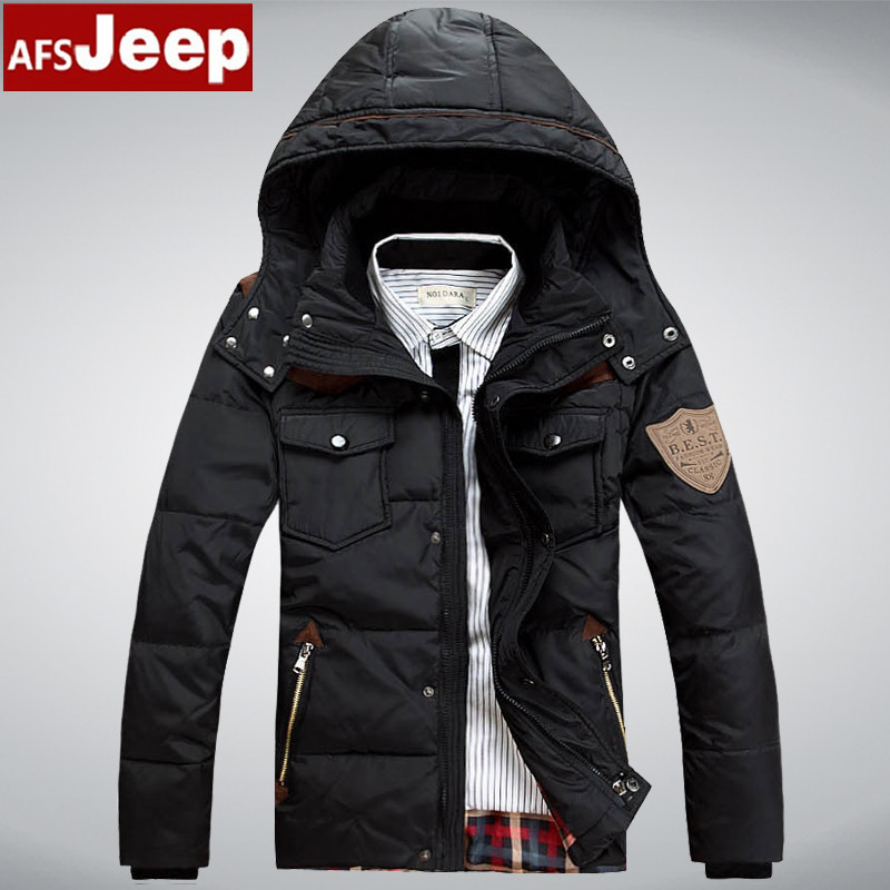 men's Winter Jackets Parka Famous Brand Logo 90% Duck Down Coat ...
