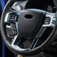 For Ford F150 F 150 2015 2017 / for ford Expedition 2018 abs Interior Accessories Car Steering Wheel Button Cover Trim 1PCS