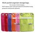 Coche asiento trasero colgar bolsas de almacenamiento de productos electrónicos del hogar bolsa de almacenamiento multi-bolsillo organizador coche a casa