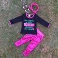 """2016 новый дизайн Детской моде набор """"Искра"""" супер симпатичные блестки брюки бутик одежда для девочек с аксессуарами множеств"""