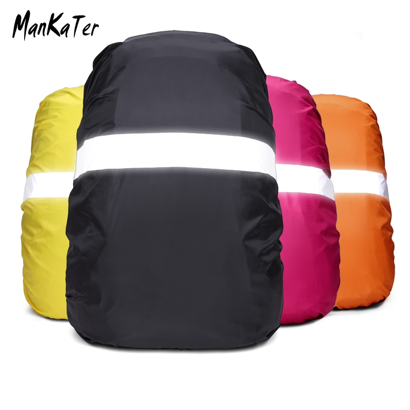 ManKaTer  30L-50L Reflective Camouflage Waterproof Dustproof Sunscreen Lightweight Backpack Rain Cover Drawstring Mouth