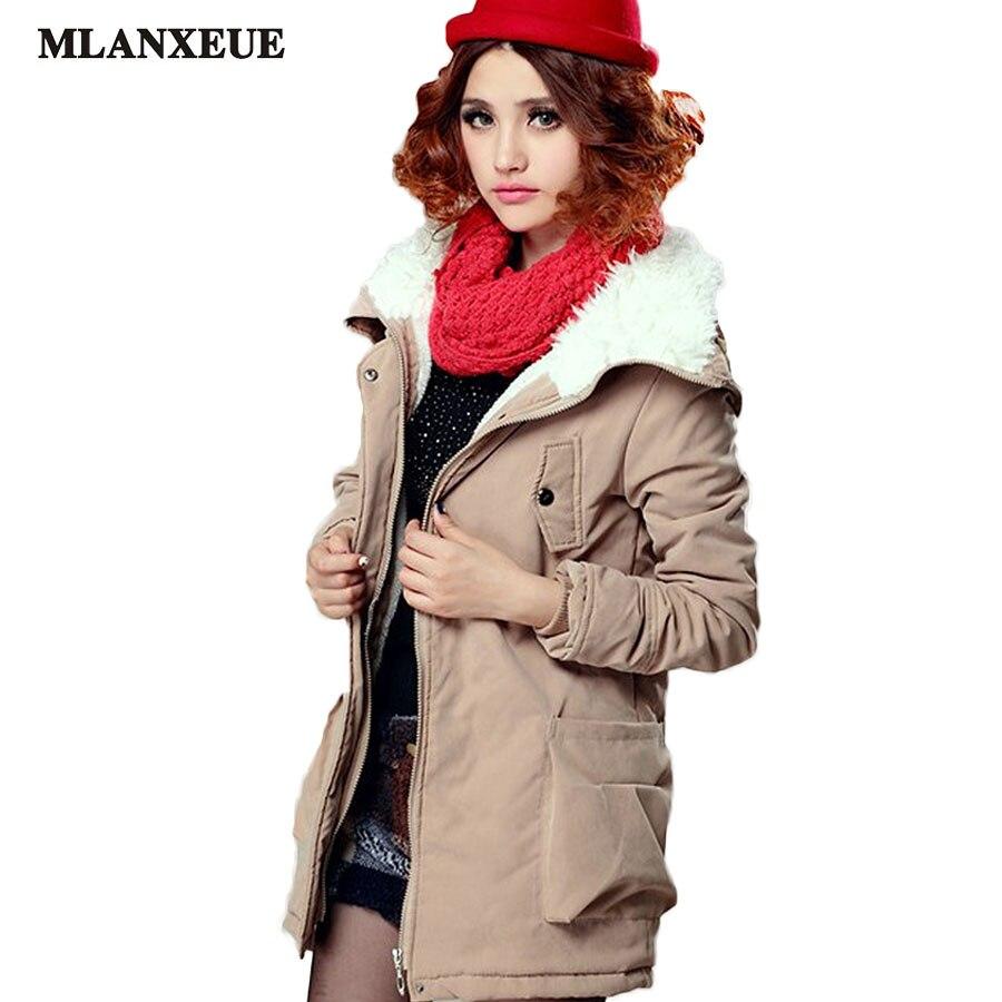 ФОТО New Coats Winter Jacket Abrigos Mujer Invierno 2016 Women Parka Tops Women's Fashion Ovo Collar Slim Long Section Coat