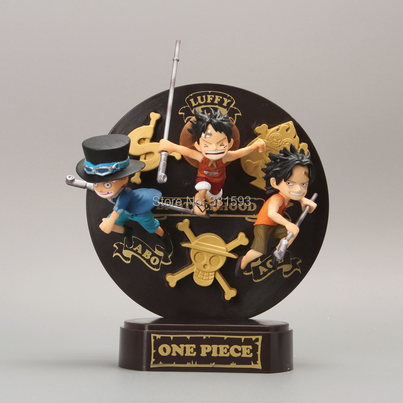 anime figures One Piece Sabo + Ace+ Luffy Collection Model Toy PVC Action Figure 16CM Free Shipping Anime anime cartoon one piece sabo 25cm action figure collection pvc model children toy gift