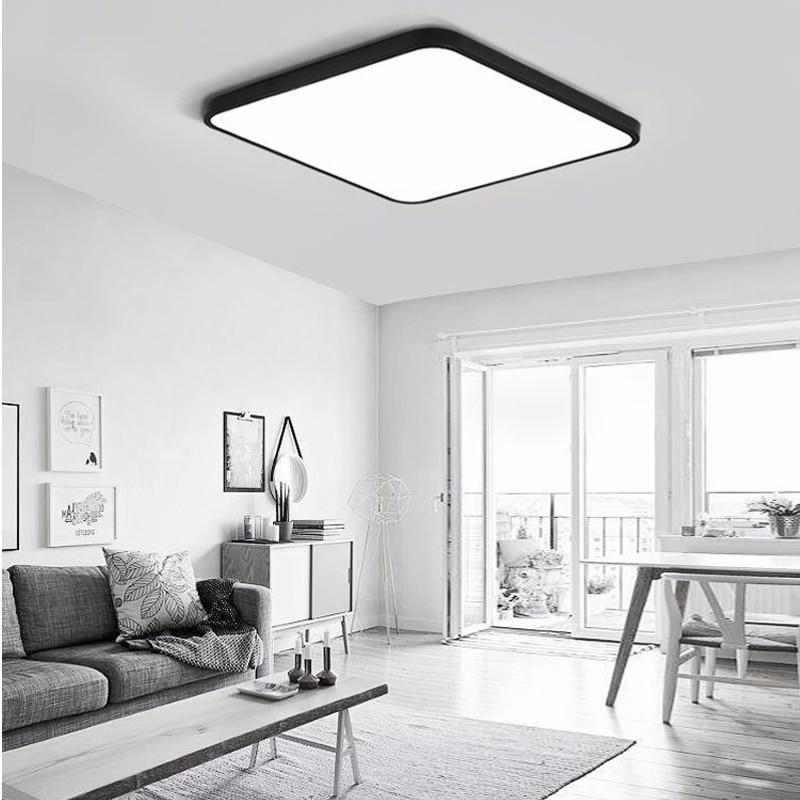 hohe deckenbeleuchtung ultradünne led quadratische deckenbeleuchtung panel lampe beleuchtung für die wohnzimmer decke halle moderne deckenleuchte hohe cm