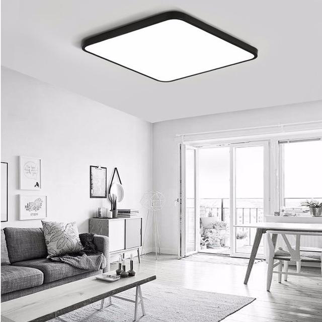 US $23.5 |Ultradünne LED Quadratische deckenbeleuchtung Panel Lampe  Beleuchtung für die wohnzimmer Decke für die halle moderne deckenleuchte  hohe 5 cm ...