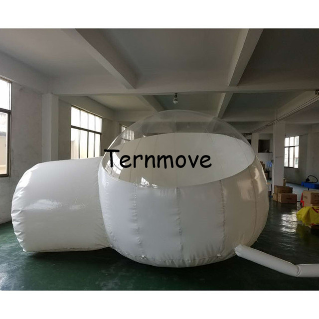 Outdoor Inflatable Half Clear Bubble Camping Dome Lawn beach Tent Inflatable Bubble House for Hotel