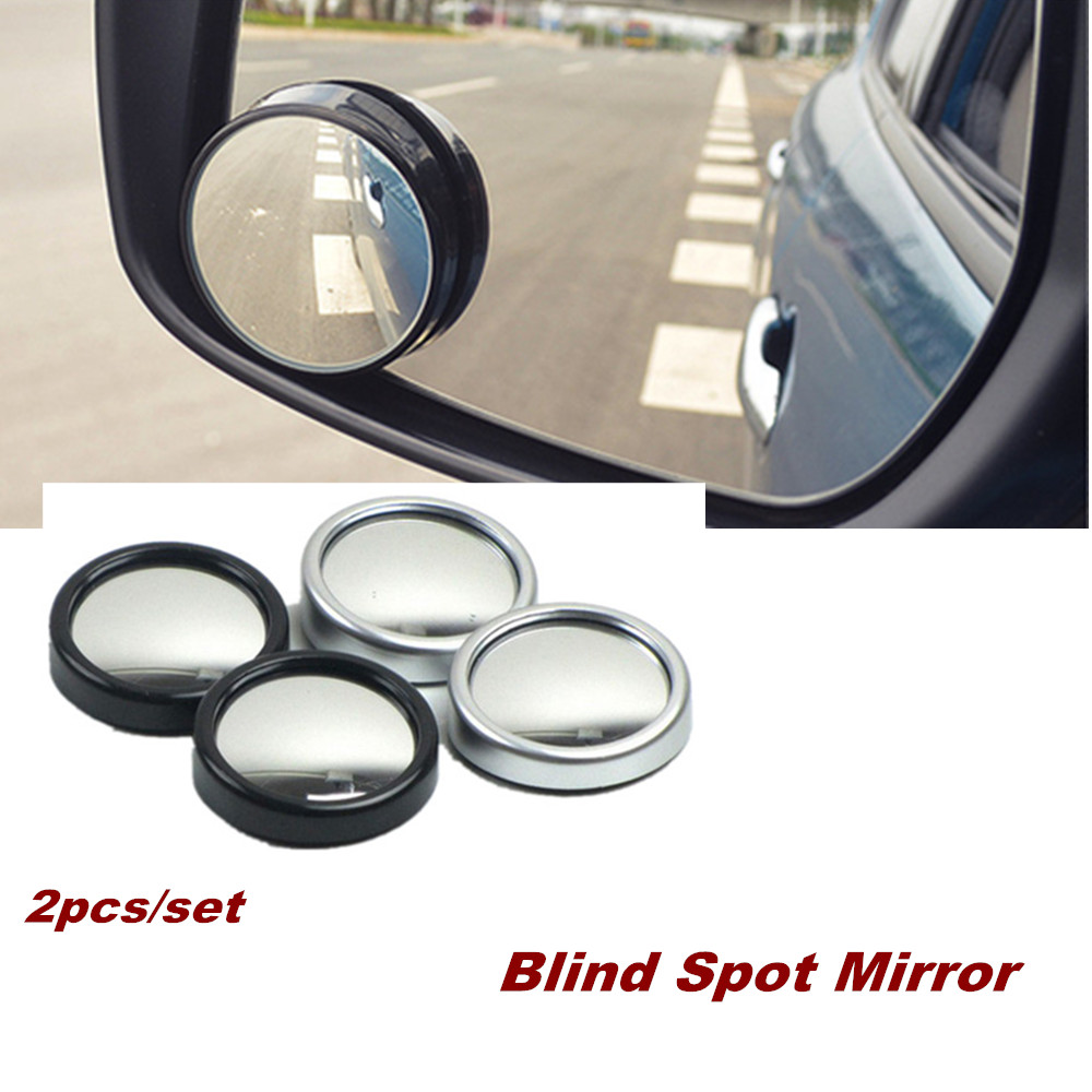 2pcs Car Vehicle Blind Spot Dead Zone Mirror Rear View Mirror Small Round Mirror 360 Wide Angle Round Convex Mirror Car Styling