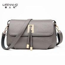 LIRENNIAO Marke Frauen Messenger Bags Leder Handtasche Kleine Umhängetasche Frauen Designer Geldbörsen und Handtaschen für Sommer