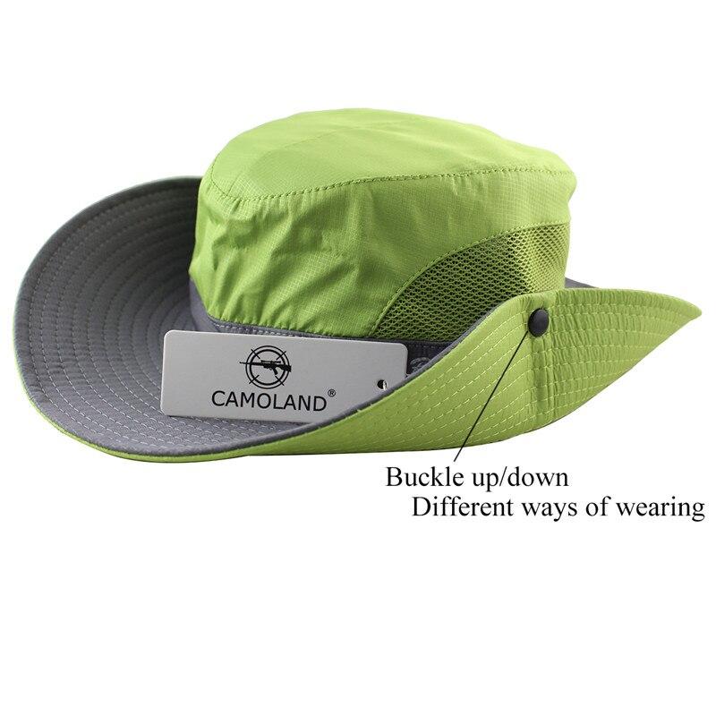 55a6ee98 Waterproof Bucket Hat Summer Men Women Sun Hat Fishing Boonie Hat UV  Protection Wide Brim Bob Hiking Outdoor Ponytail Panama Hat-in Bucket Hats  from Apparel ...