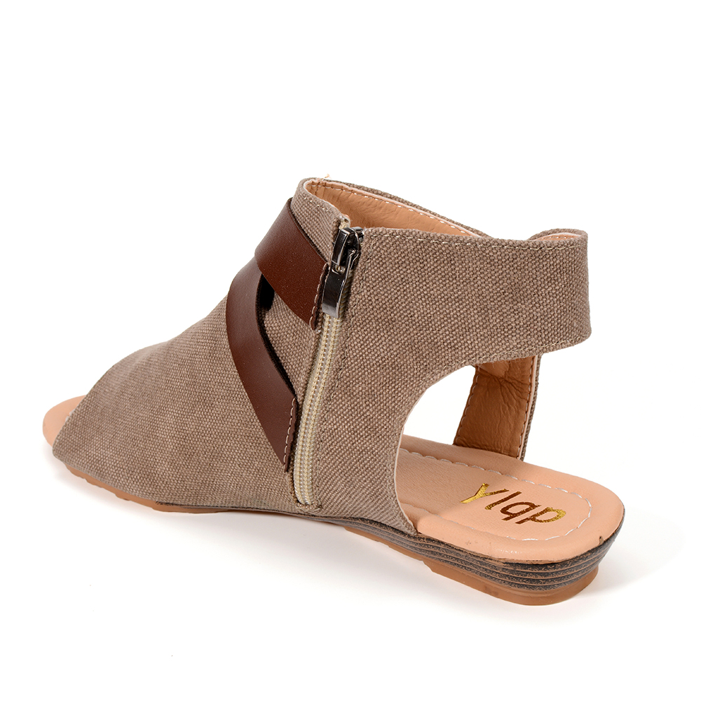 Peep caqui 2018 marrón Abierta Toe Hebilla gris Verano Para Flop Flip Playa Moda Mujeres Sandalias Las Tamaño Zapatos Negro Más Pisos Mujer Punta Ocasionales qgvr1XwYg