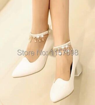 ФОТО White rhinestone crystal bridal shoes wedding shoes bridesmaid shoes maternity pointed toe single shoes customize size 41 42