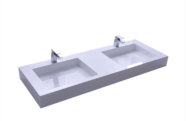 Wall Mounted 1500mm Vanity Counter Top Basin Stone Solid Surface