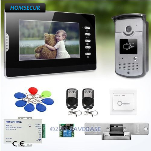 HOMSECUR 7 Video Door Entry Call System with Intra-monitor Audio Intercom for Apartment