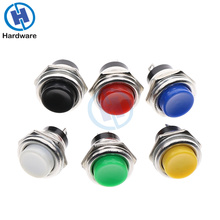 Momentary SPST NO Round  Push Button Switch 16mm Red/Yellow/Blue/Green/White 6A/125VAC 3A/250VAC 6pcs 22mm momentary push button switch red green blue yellow black white normal open normal close