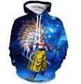 Мужчины Женщины Hipster 3D Толстовка Пространство Galaxy Балахон Пуловеры Классический Аниме Dragon Ball Вегета Капюшоном Кофты Soprtswear