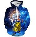 Hombres mujeres hipster 3d sudadera espacio galaxy sudaderas con capucha sudadera con capucha jerseys classic anime dragon ball vegeta soprtswear
