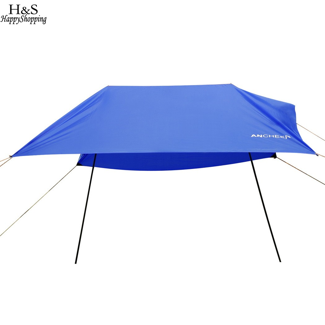 3 x 3m Sun Shelter Beach Tent Portable Canopy SunShade Camping Outdoor Rainproof Awning for Tents Car Cover Fishing Cover outdoor double layer 10 14 persons camping holiday arbor tent sun canopy canopy tent