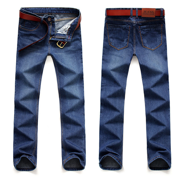 Hot Sale Men's Business Style   Jeans   Classic Leisure   Jeans   Basic styles men   Jeans   Straight pants High Quality Plus Size 38